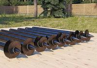 Винтовая свая диаметр 108 длина 2.5 метра