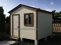 Хозблок 3х3 двухскатная крыша