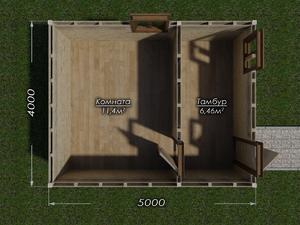 Бытовка 4х5 двухскатная крыша