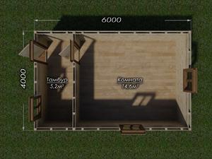 Бытовка 6х4 двухскатная крыша