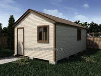 Хозблок 6х4 двухскатная крыша