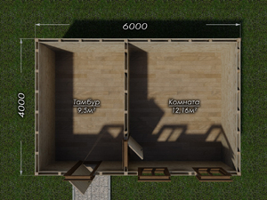 Хозблок 6х4 два окна